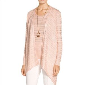 St. John Sequin Knit Draped Wrap Front Cardigan